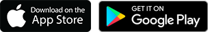 Apple Store and Google Play Store Icons